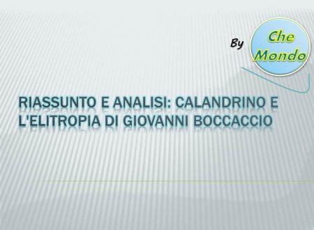 Riassunto e analisi Calandrino e l'elitropia – Giovanni Boccaccio