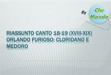 Riassunto Canto 18 e 19 Orlando Furioso: Cloridano e Medoro